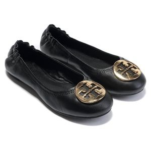 Tory Burch Black Ballet Flats
